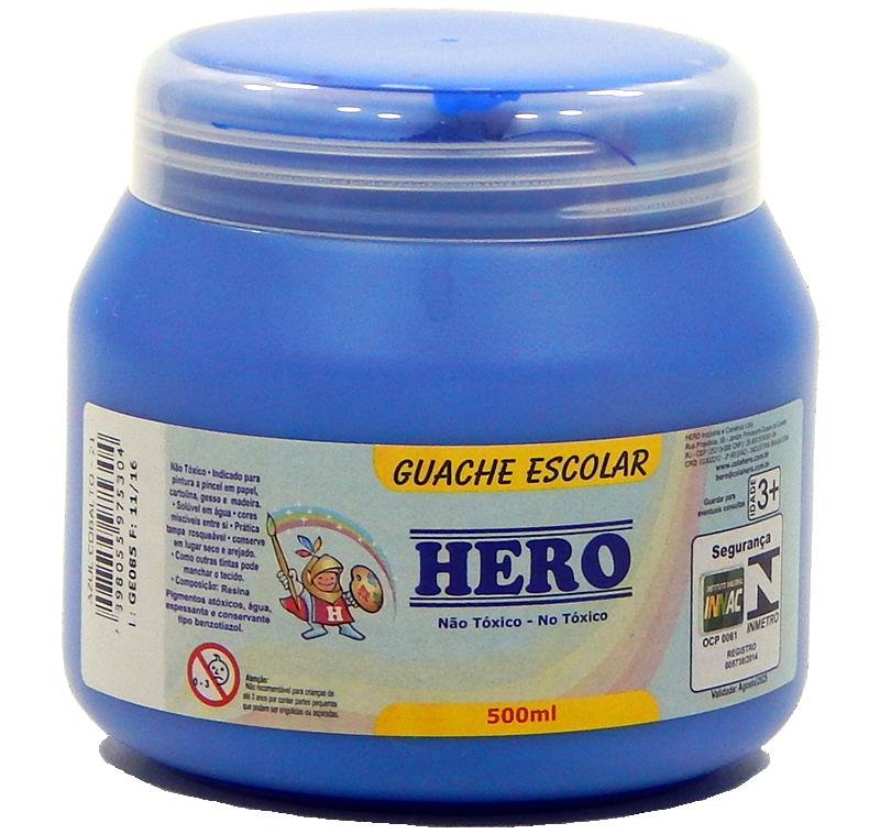 Guache Escolar Hero 500ml